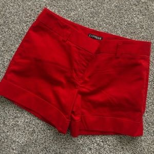 Express dress/casual red shorts
